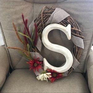 "Fall ""S"" Wreath"